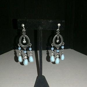 Dangle clip-on earrings